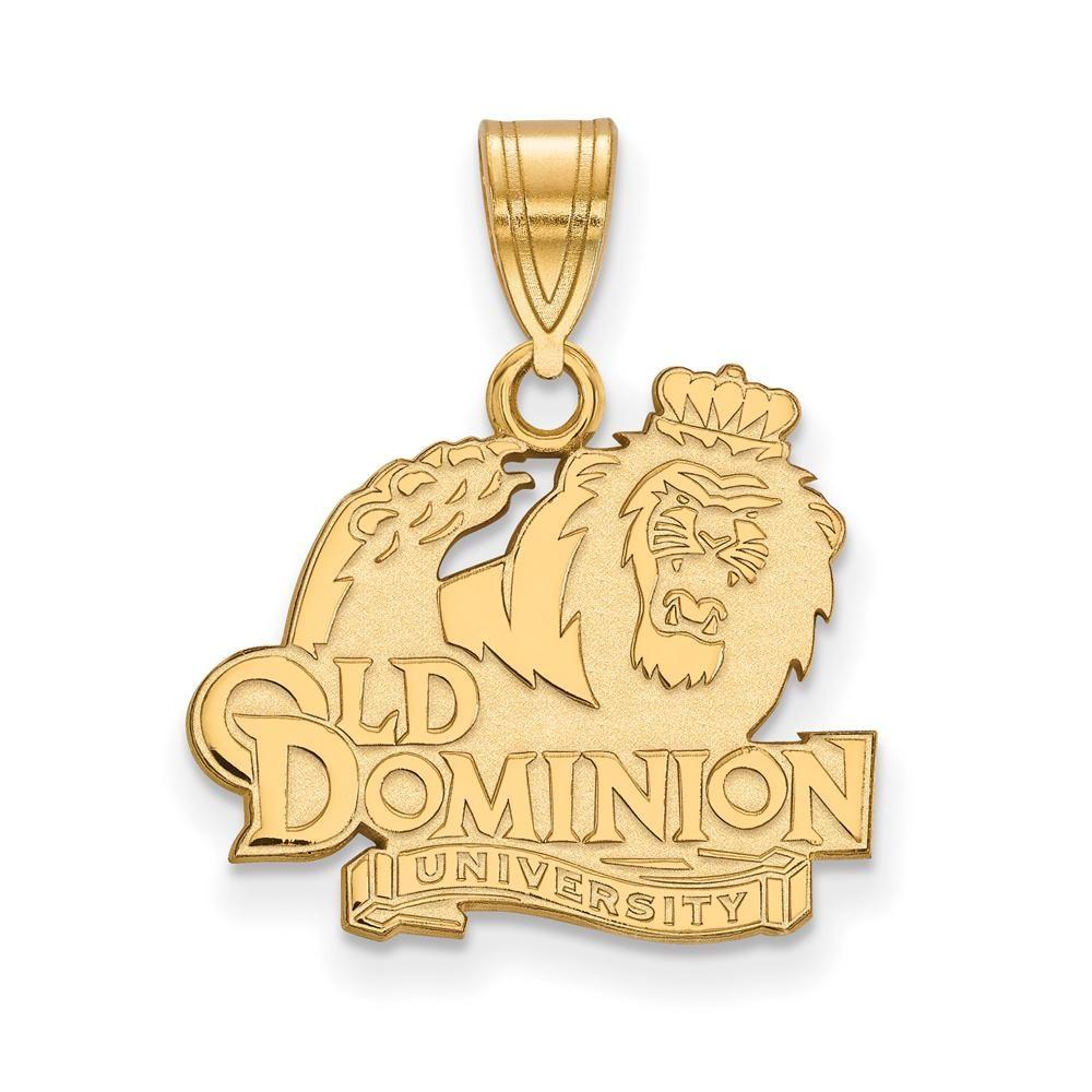 LogoArt 14k Yellow Gold Plated Sterling Silver Delta Gamma Medium Necklace