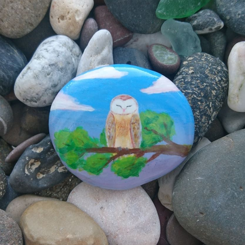 Магнит  150 RUB  #рисункинакамнях #птица #сова #совы #хэндмэйд #ручнаяработа #stoneart #paintingstones #paintedstones  #handmade  #pebbleartwork #artistoninstagram #bird #birds #owl #owls #сипуха #barnowl #stonepainting #роспись #animals #украшение #birb #магнит #magnet #сувенир #moon #night #rockiriya_наличие #rockiriya_магниты