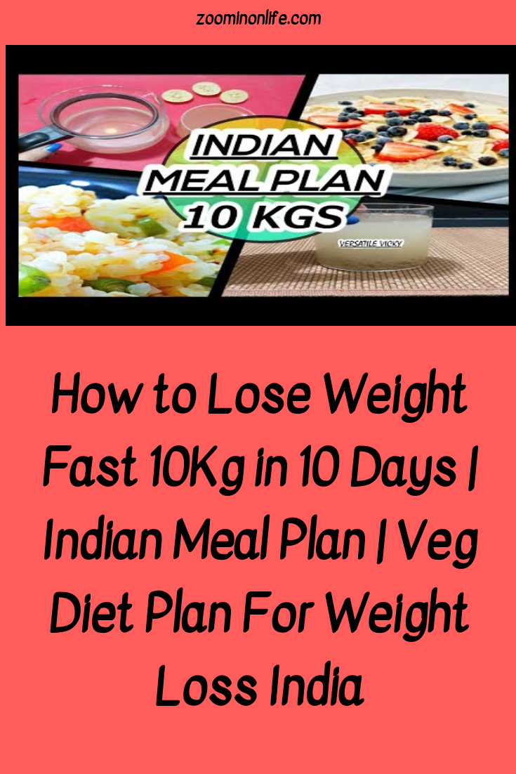 diet menu for weight loss india