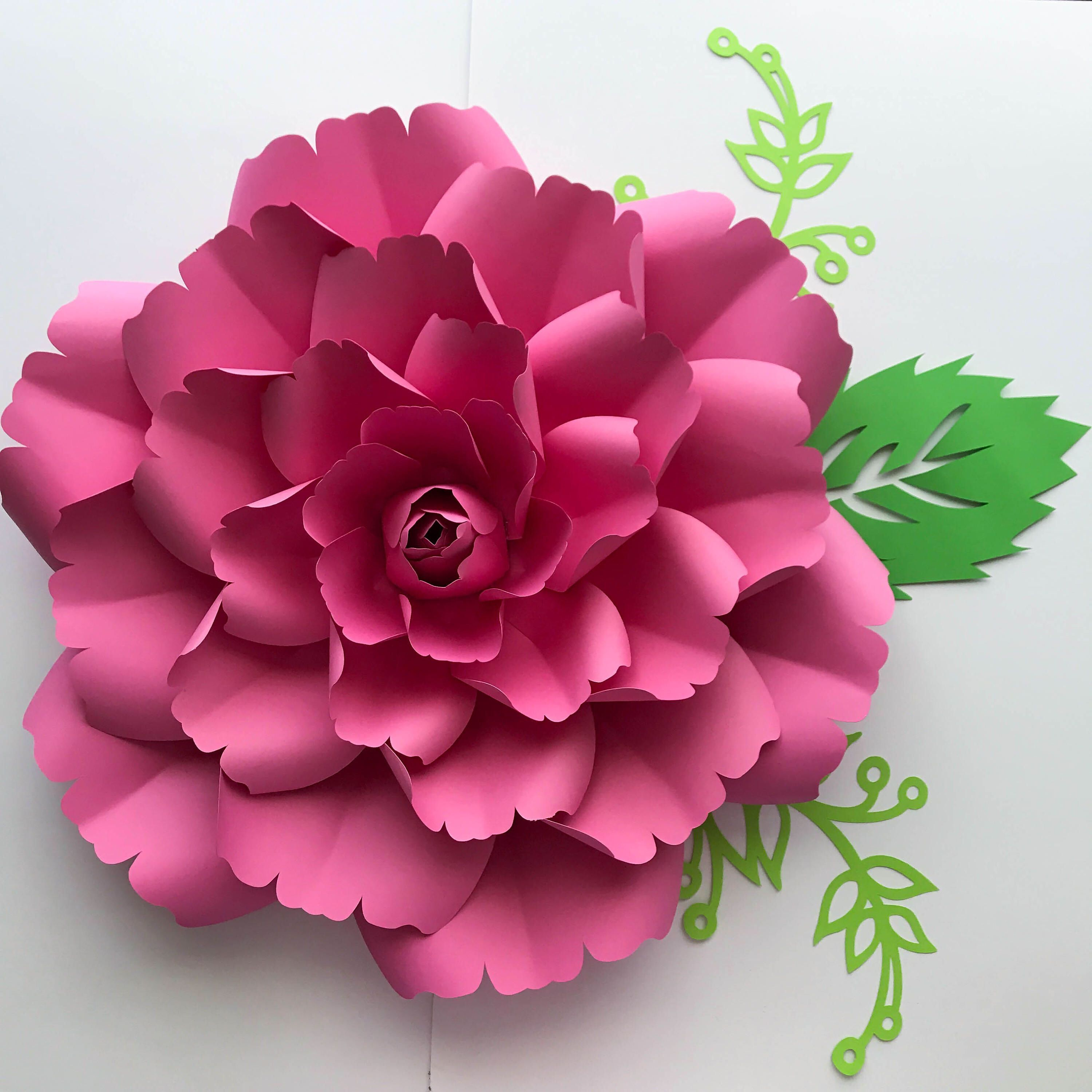 Paper Flowers SVG Petal 137 template with Center