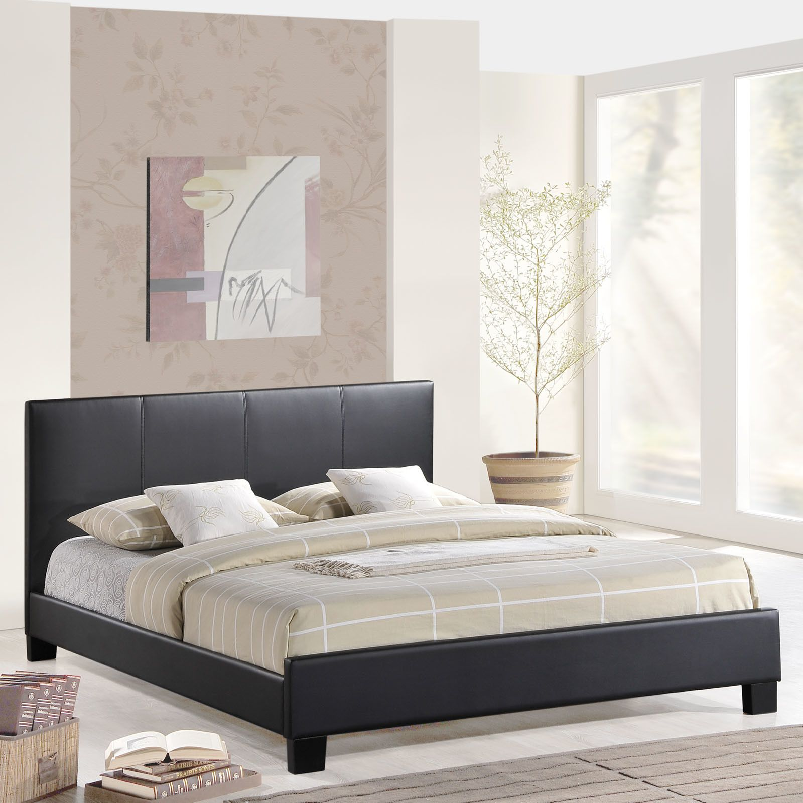 Alex Upholstered Platform Bed Upholstered platform bed