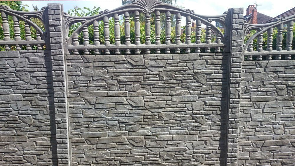 Fencing PanelGravel boardsWalling Stone Fence posts concrete