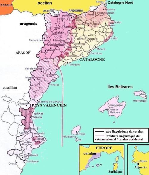 Catalan Language Map Catalonia Spain Pinterest Catalan