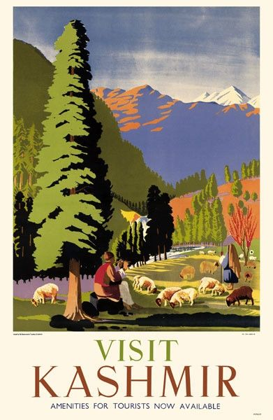 See Kashmir India Indian Pakistan Travel Tourism Vintage Poster Repro FREE S//H