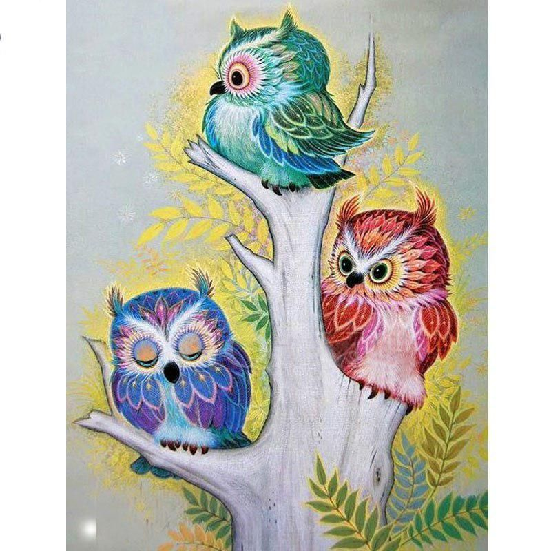 5D DIY Full Drill Square or Round Diamond Painting Cross Stitch Diamond Embroidery Owl Eyes Diamond Pictures Needlework