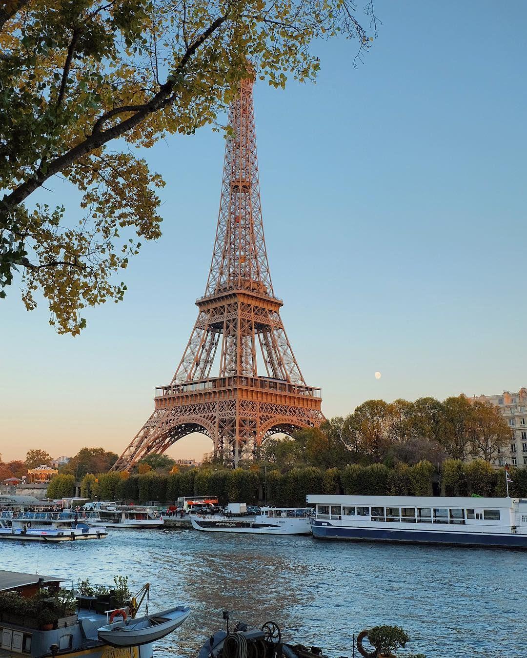 Eiffel Tower Paris France Pemandangan Menara Eiffel Menara