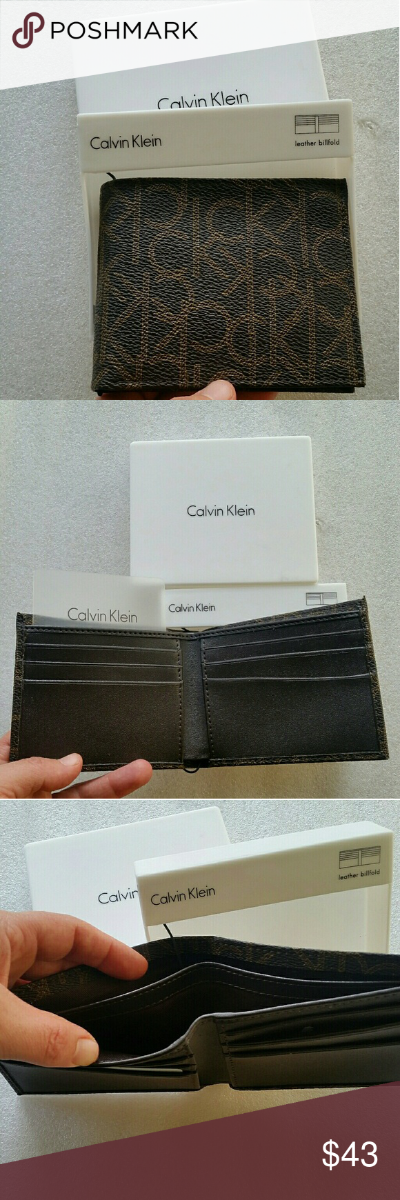 8a8f00958ad NWT authentic Calvin Klein men s wallet Brand new in ibox Great for gift Calvin  Klein Bags Wallets