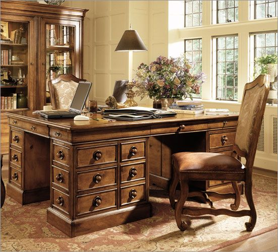 Buy Stanley Furniture Provincia 74u2033 W Triology Partners Desk Online  Confidently
