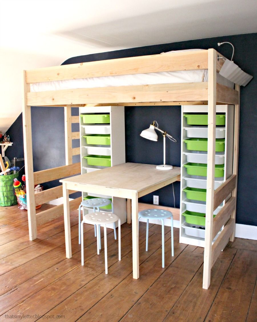 diy loft bed with desk and storage loft beds loft and lofts