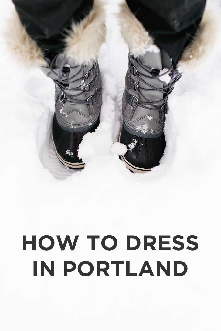 How to Dress in Portland Oregon - the basic rules, what we currently wear, seasons and temperatures, how much it rains and snows // localadventurer.com