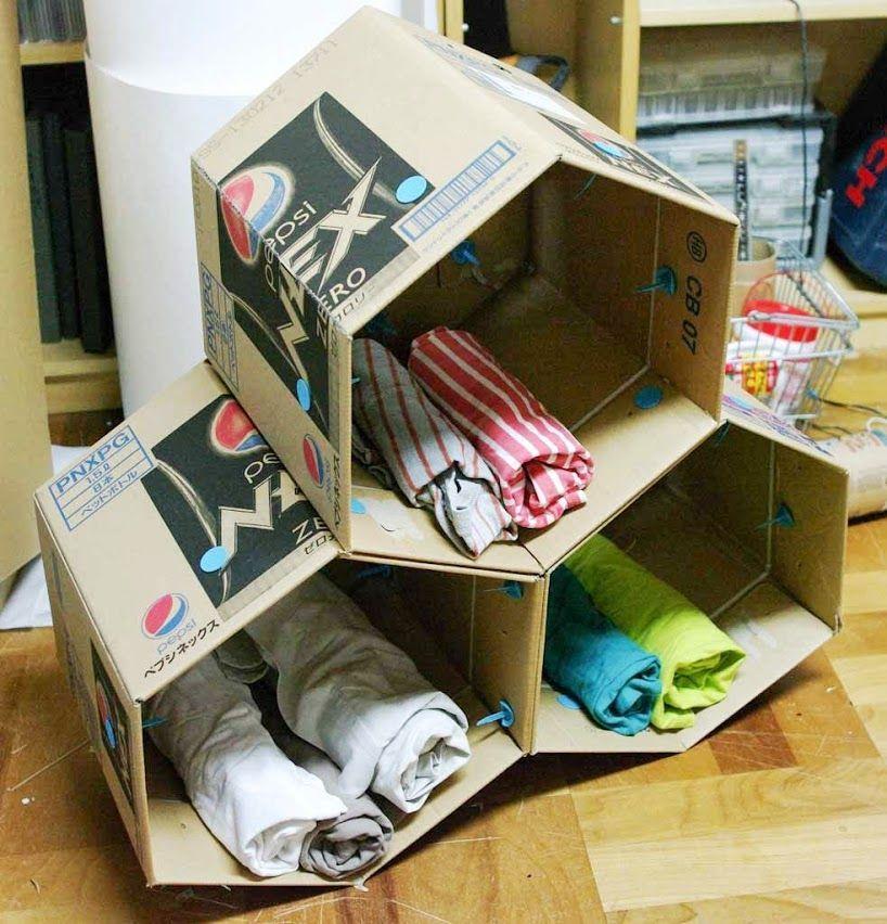 Makedo Cardboard Storage Unit Cardboard Storage Diy Storage Boxes Cardboard Box Storage