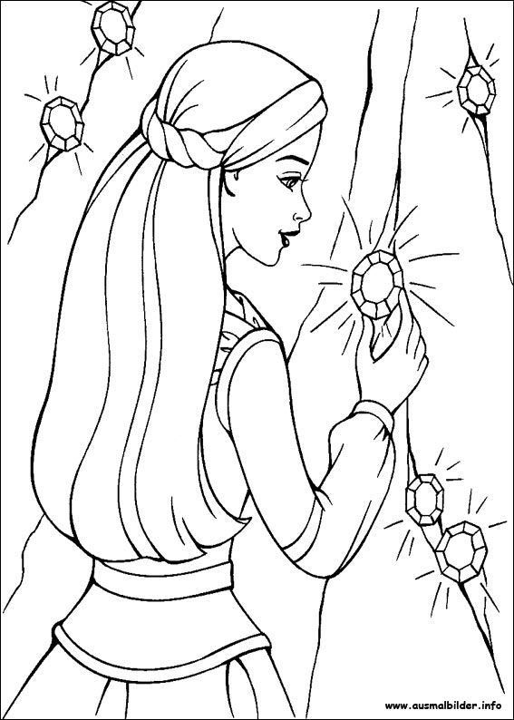 Barbie und der geheimnisvolle Pegasus malvorlagen