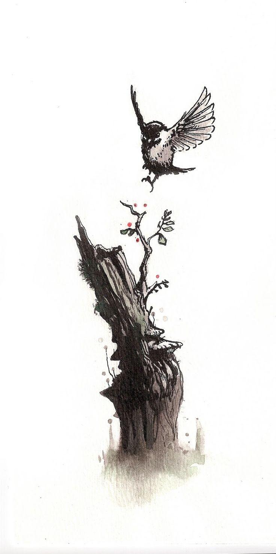 flying chickadee tattoo - Google Search (met afbeeldingen ... - photo#6