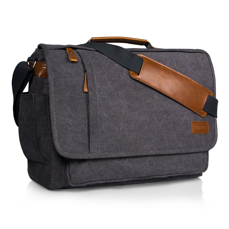 d604eaa0a3fb Estarer Laptop Bag 17 inch Messenger Bag Mens Briefcase Work Shoulder Bag   Amazon.co