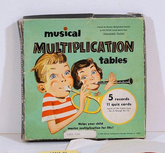 Vintage Record Set Musical Multiplication Tables School Memories