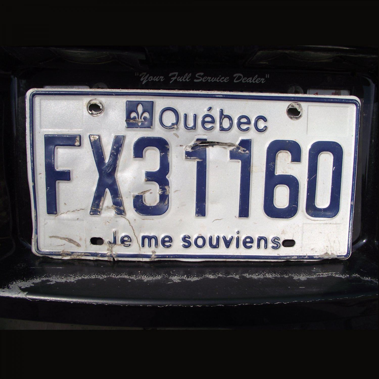 Vintage Quebec Licence Plate License Plate Plates
