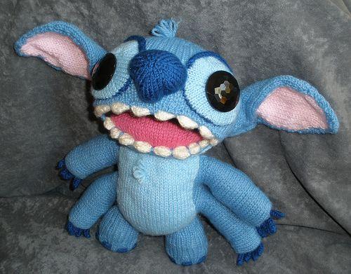 Cute Amigurumi Knitting Patterns : Stitch of lilo and stitch late for tony s birthday amigurumi