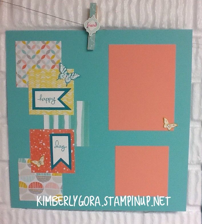 Scrapbooking made easy. #spicegirlstamping, #kimberlygora.stampinup.net Page 1