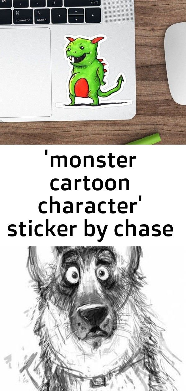 monster cartoon character sticker by chase kelsall 17 Monster Cartoon Character Sticker by ChezStore  Redbubble 39 Ideas For Drawing Cat Cartoon Character Design Artworks...