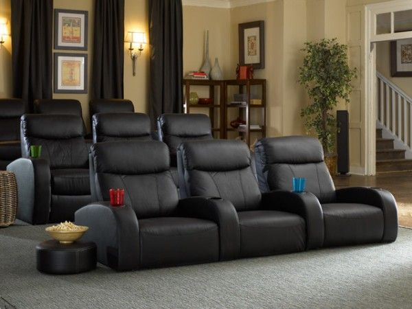 Two Rows Of Theater Seating Home Cinema Room Home Theater Rooms Home Theater Seating