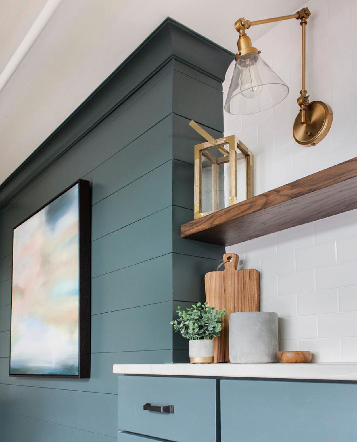 Paint Color Dark Pewter By Benjamin Moore Painted Shiplap Green Shiplap Living Room Design Inspiration