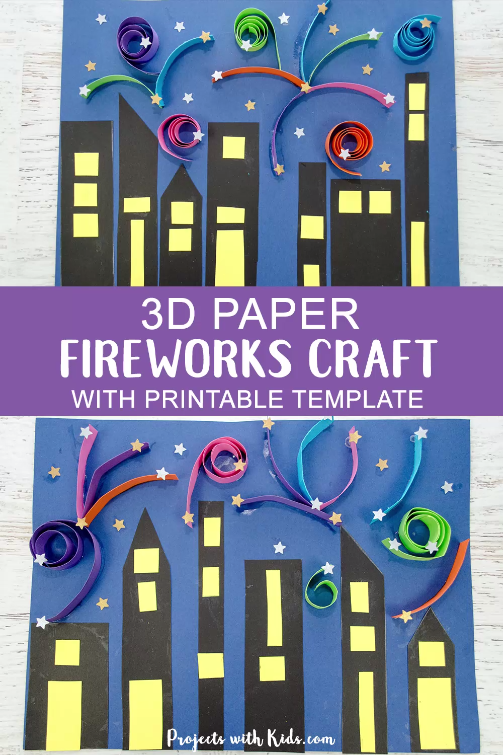 3D Paper Fireworks Craft