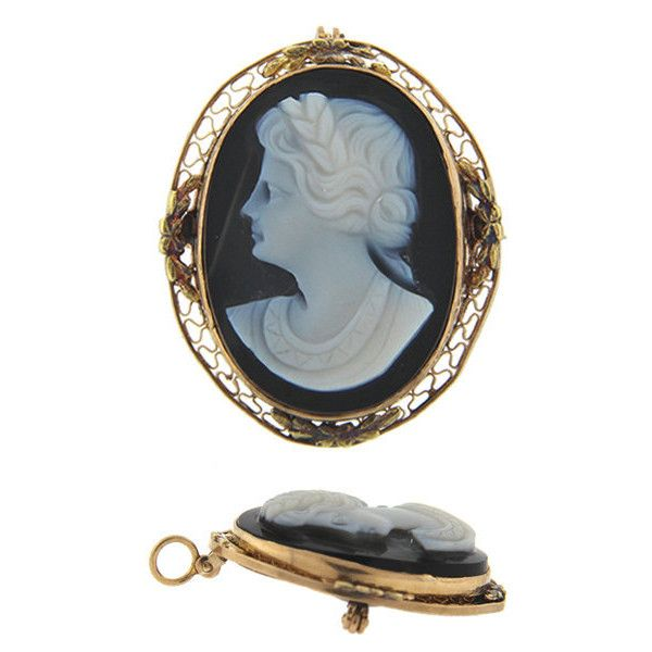 Antique filigree onyx cameo pendant brooch 190 liked on antique filigree onyx cameo pendant brooch 190 liked on polyvore featuring jewelry aloadofball Choice Image