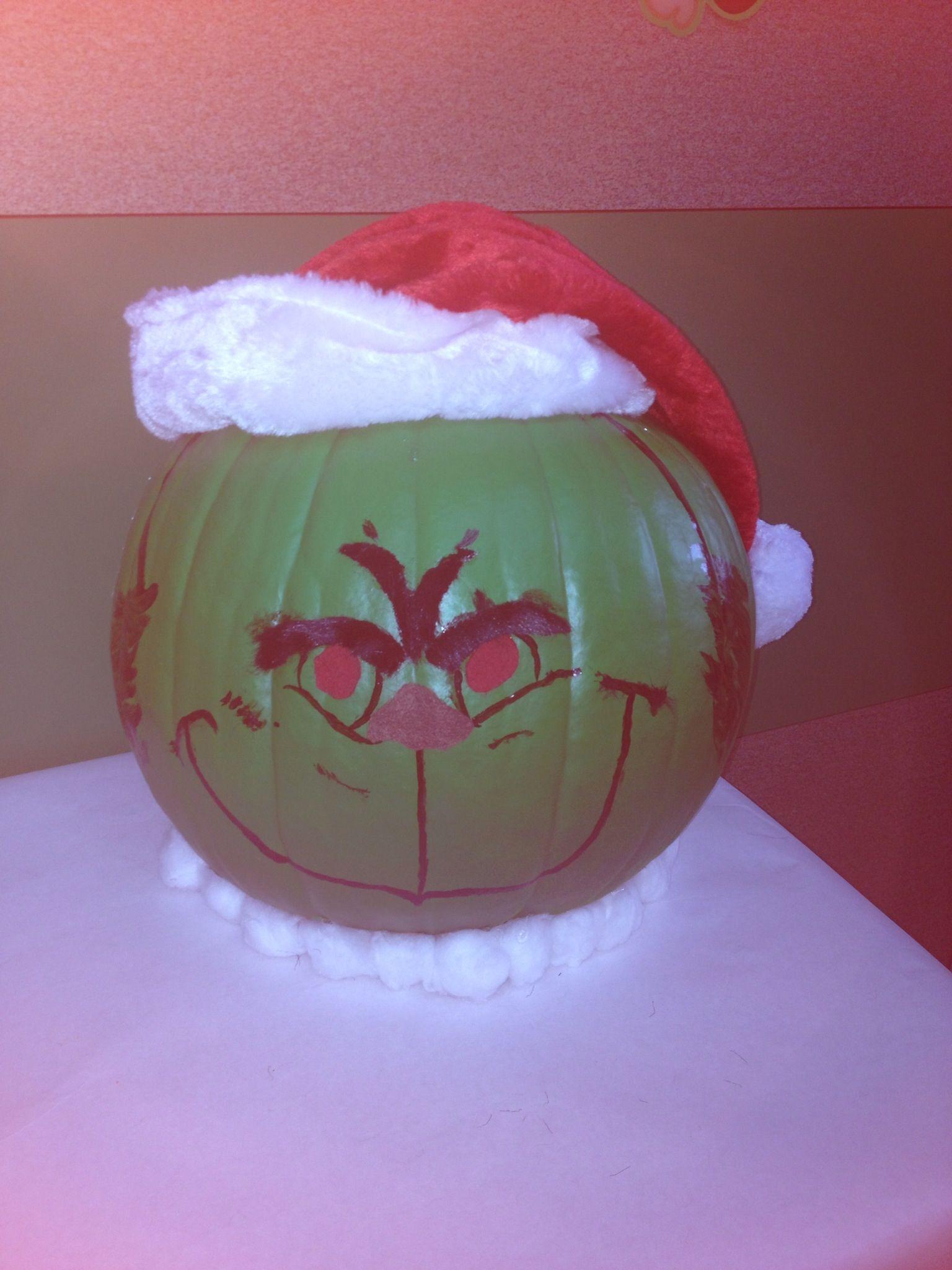 Dr Seuss Grinch Pumpkin Decorating Contest Pumpkin