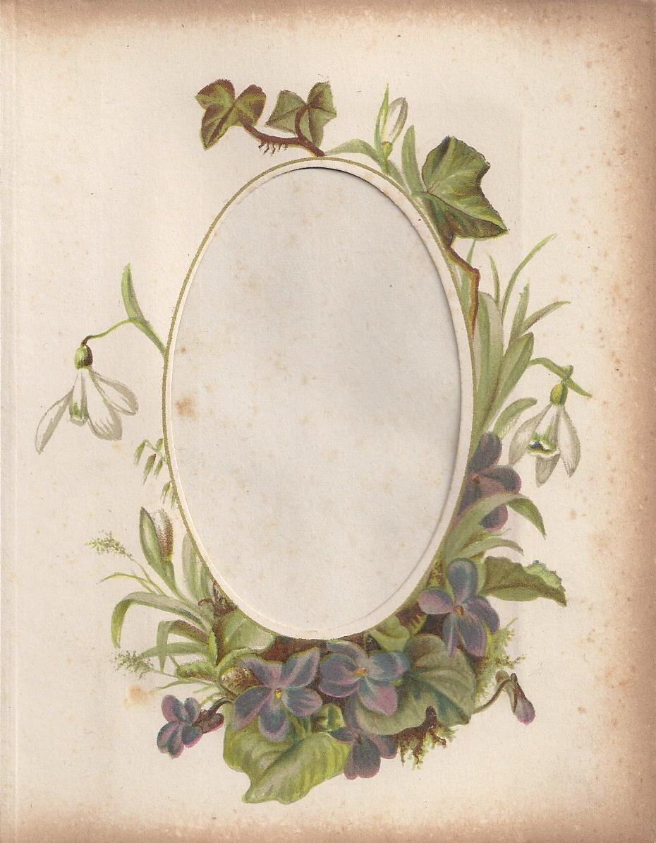 Victorian Photo Album Oval Floral Frame Zibi Vintage