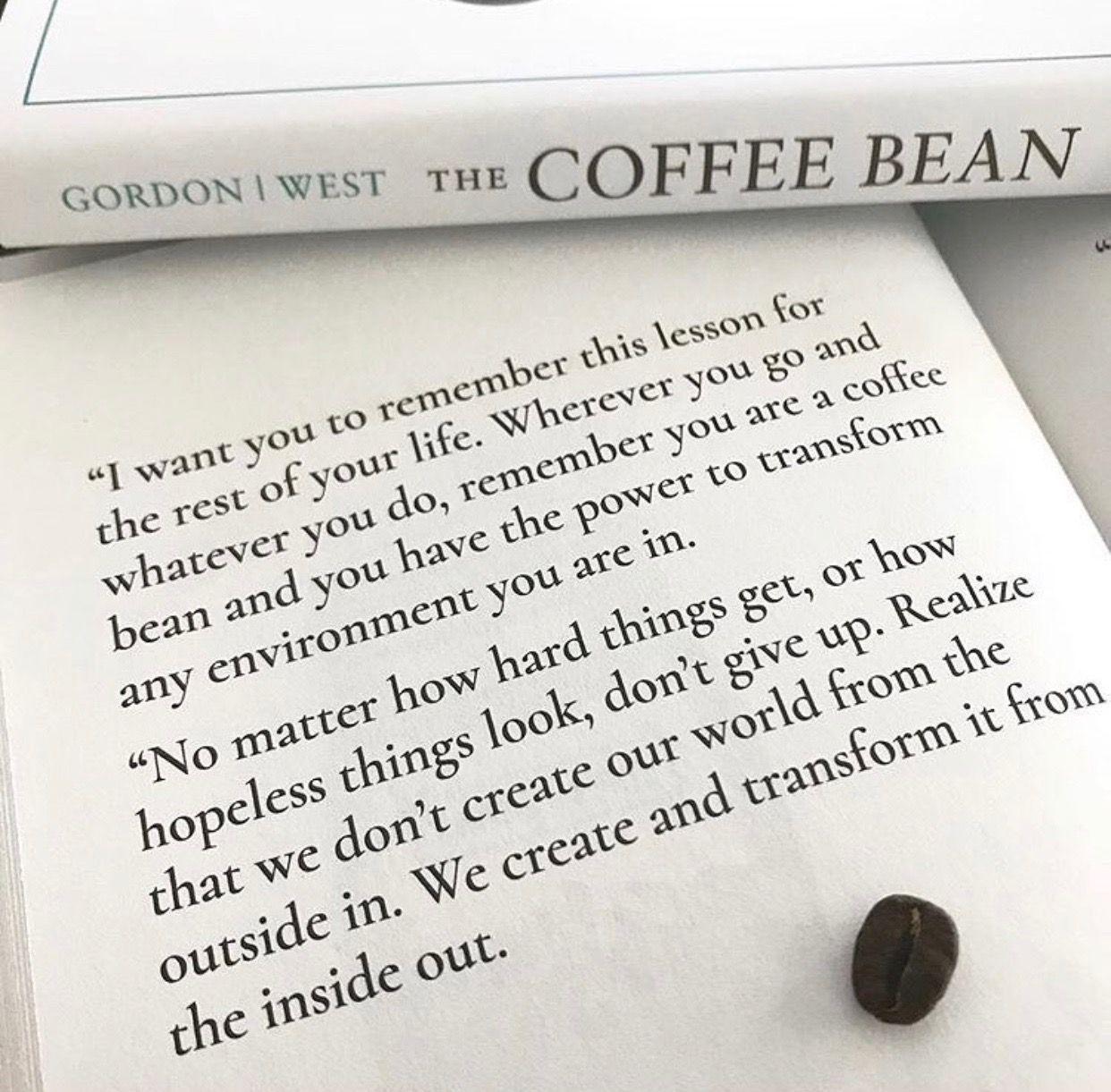 The Coffee Bean by Jon Gordon | Jon gordon, Energy bus