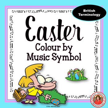 EASTER COLOUR By MUSIC SYMBOL ACTIVITIES This Set Contains 26 Themed Music Colouring WorksheetsUsing BRITISH