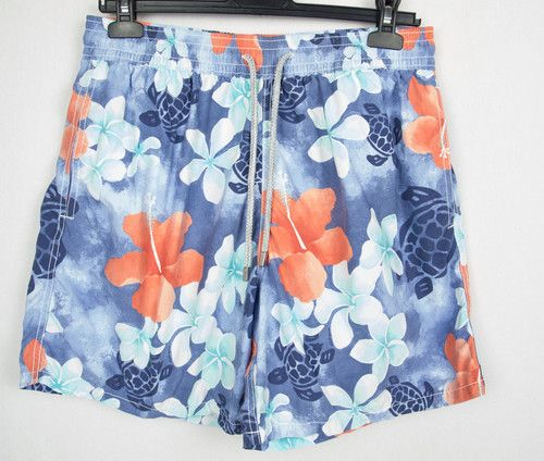 VILEBREQUIN Mens Swim Trunks XL Floral Turtle Ocean Print Moorea Board Shorts