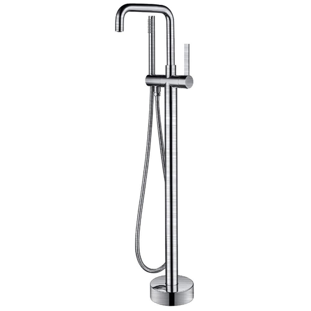 Anzzi Moray Series 2 Handle Freestanding Tub Faucet In Polished