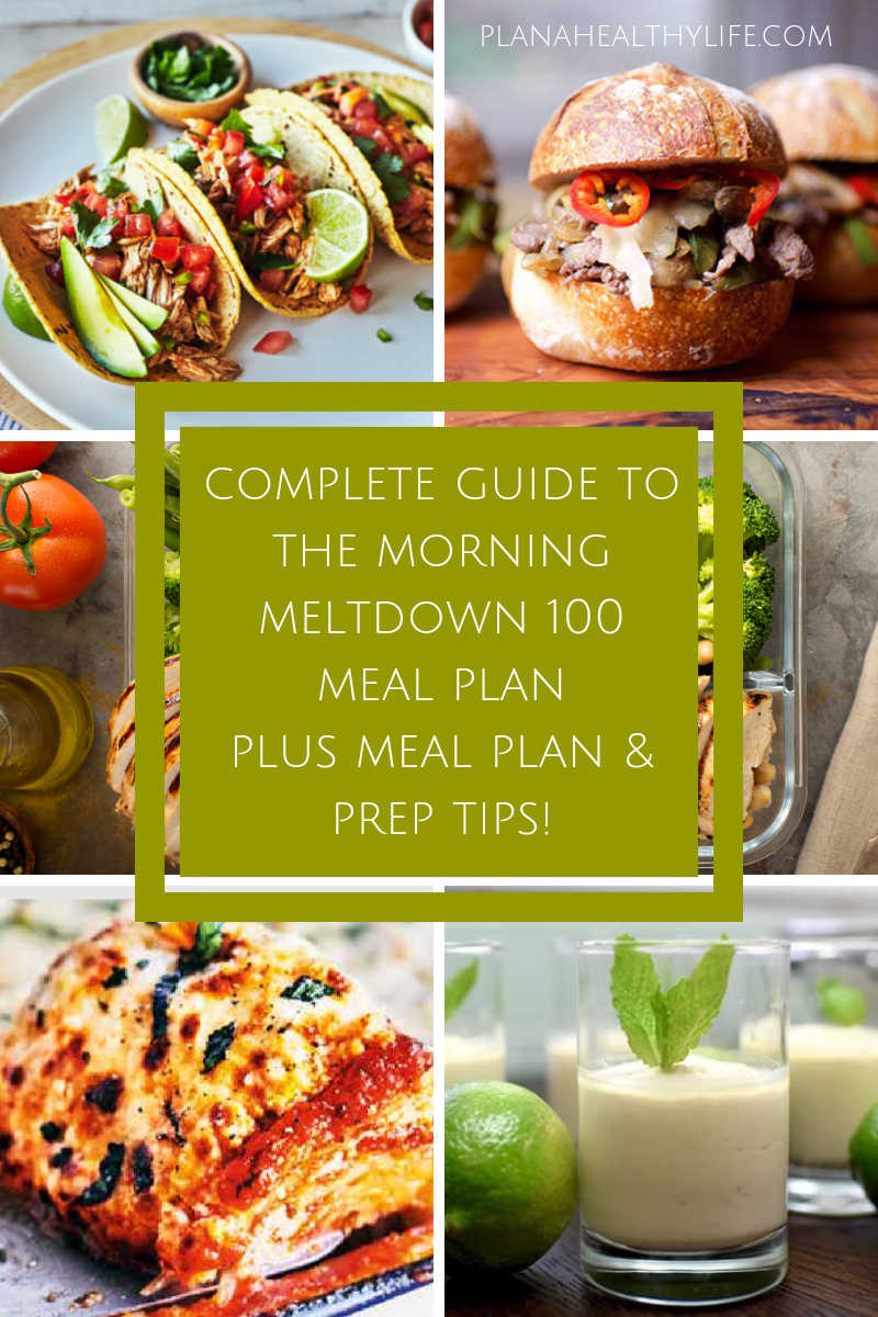 Complete Guide to the Morning Meltdown 100 Meal Plan  PLAN A HEALTHY LIFE Complete Guide to the Morning Meltdown 100 Meal Plan  PLAN A HEALTHY LIFE