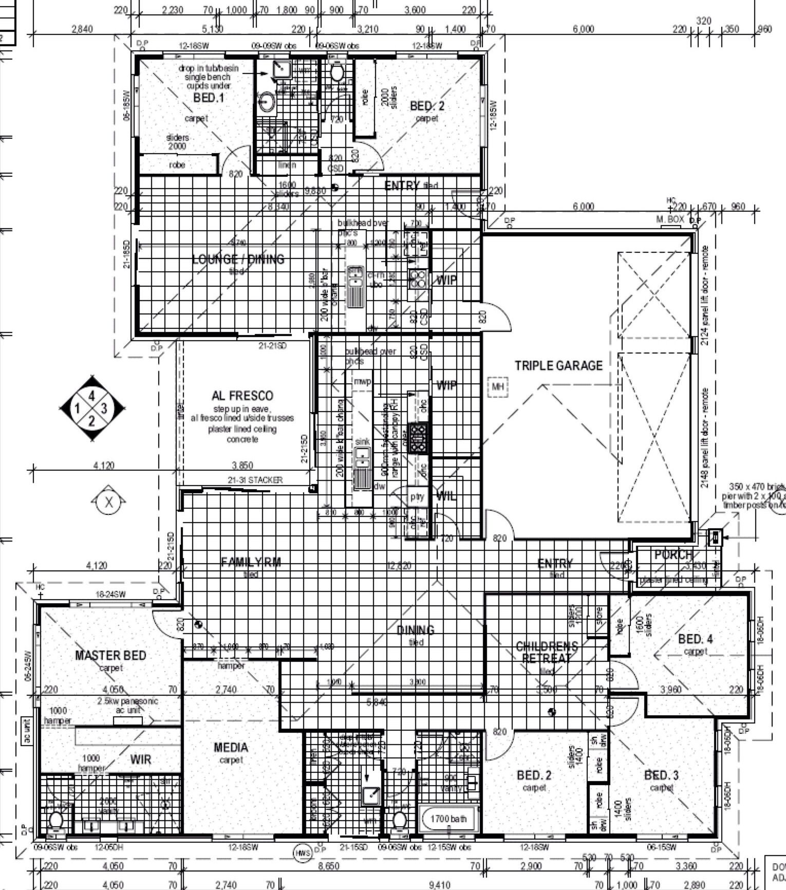 Floor plan with attached granny flat for the home for Granny flats floor plans