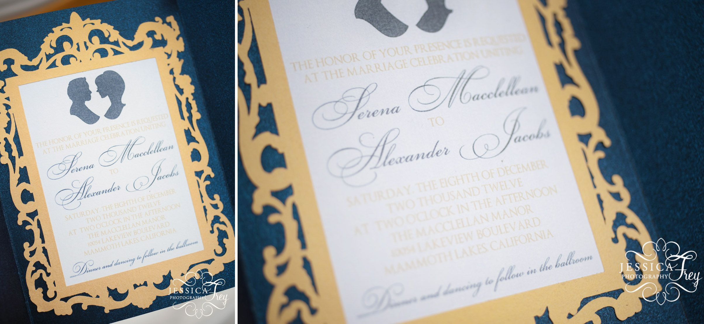 Beauty And The Beast Inspired Wedding Invitation For Jessica
