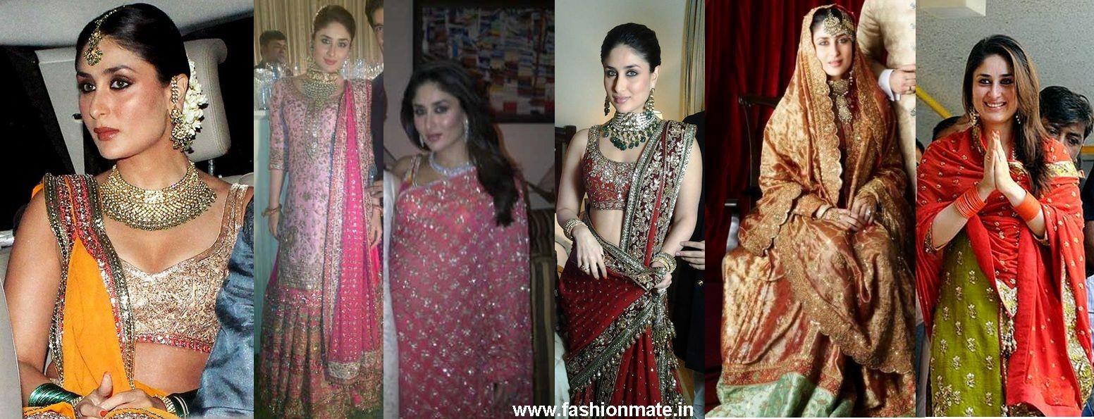 Bride Kareena Kapoor Wedding, Nikah, Sangeet Mehendi Dress   shaadi ...
