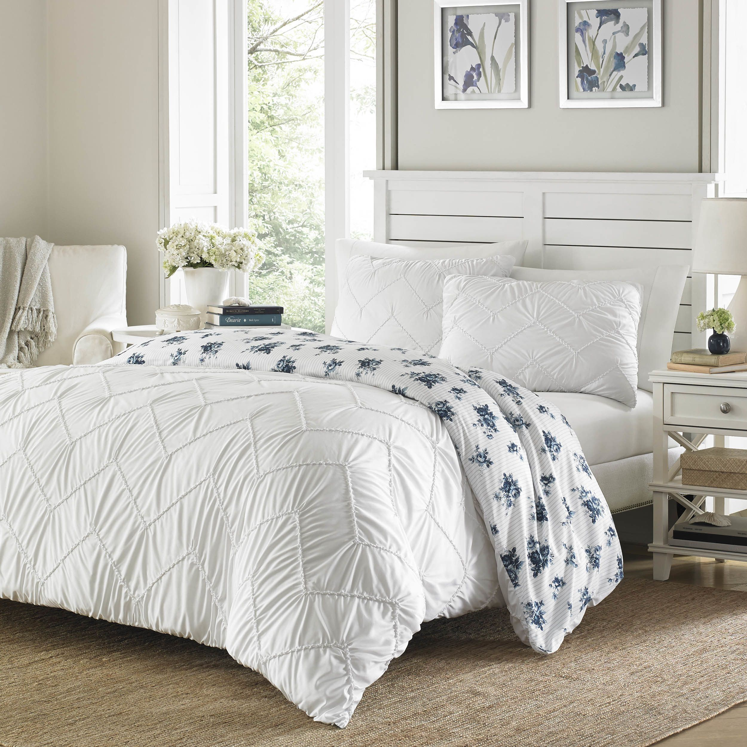 Stone Cottage Hilberry White Comforter Set Full Queen