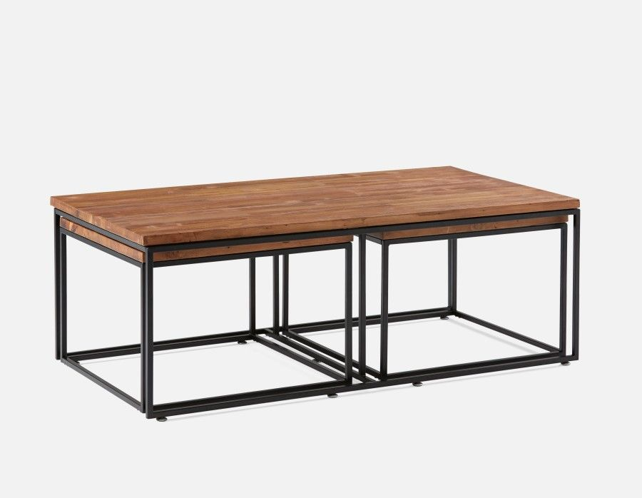 Juni 3 Piece Coffee And End Table Set Black Coffee And End