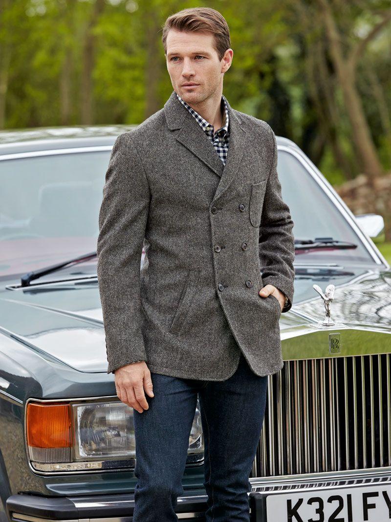 Tweed Sakkojacke Lewis Von Beavers British Tweed