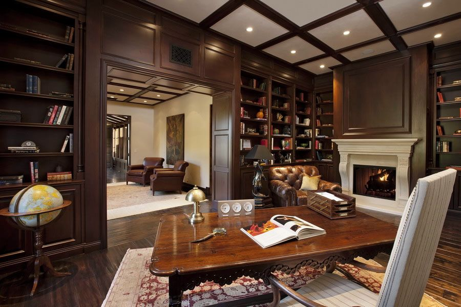 30 Classic Home Library Design Ideas Imposing Style Freshome Com Home Library Design Small Room Design Home Library