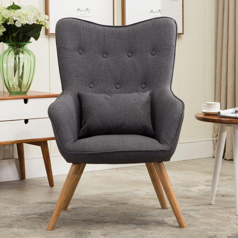 Wunderbar Mitte Des Jahrhunderts Moderne Sessel Sofa Stuhl Beine Holz Leinen Polster Wohnzimmer  Möbel Bedoorm Arm Stuhl