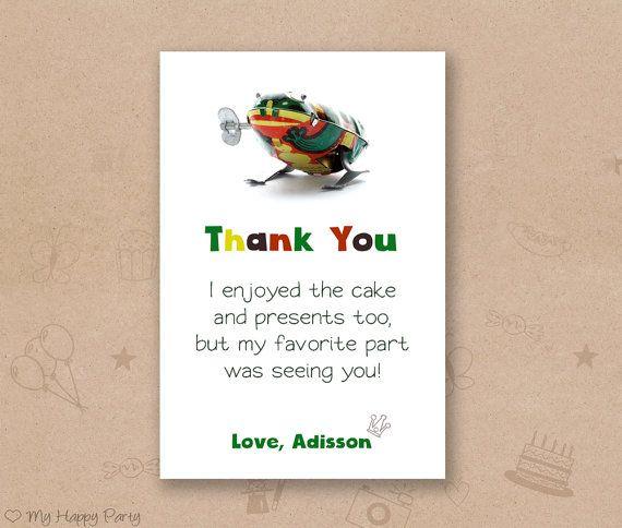 Frog thank you card frog favor card frog birthday party kids frog frog thank you card frog favor card frog birthday party kids frog birthday filmwisefo