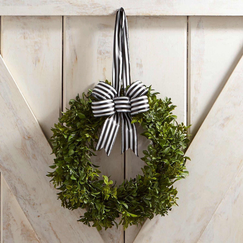 Faux Boxwood Mini 10 Wreath With Ribbon Artificialplantsdecorbathroom Mini Wreaths Small Boxwood Wreath Mini Boxwood Wreath