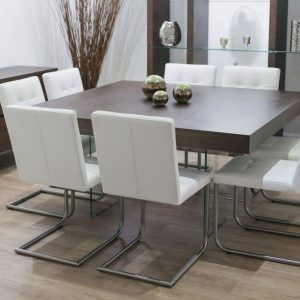 Contemporary Square Dining Room Table For 8 Modern Home