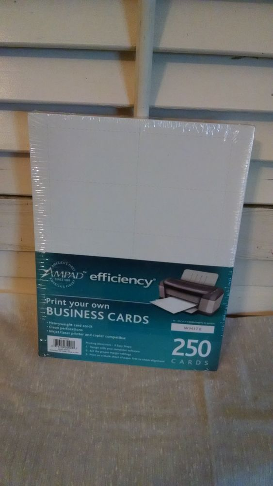 Ampad Print Your Own Business Cards 250 Cards Heavy Weight New Business Print Heavy Weight