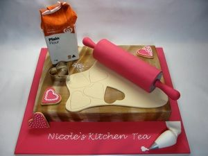 Gorgeous, all edible kitchen tea cake!  www.creativecakesbyjulie.com