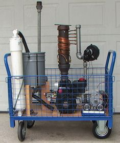 Wood Gas Generator >> Wood Gasifier Generator Cart Post Apocalyptic Survival Wood