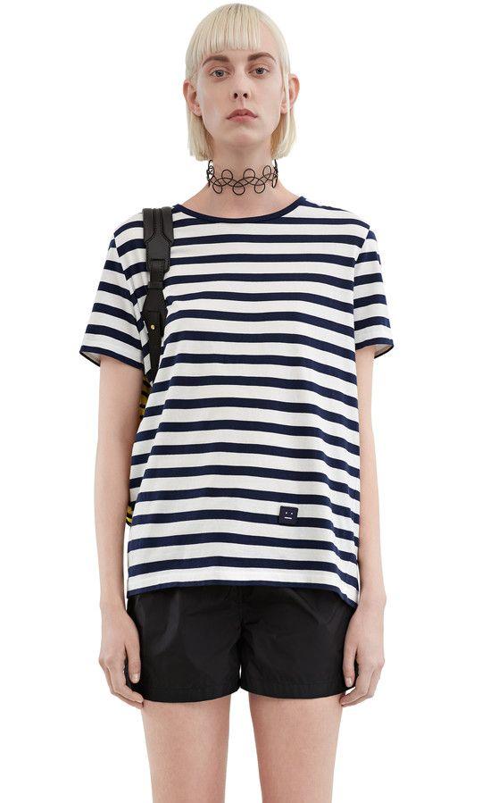 fb200529160 Tee-shirt Rigoletto navy white - Acne Studios