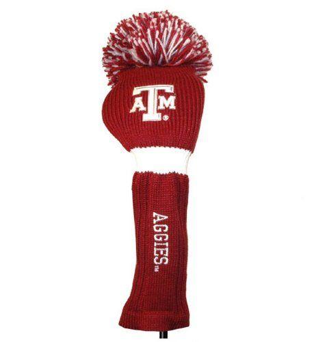 NCAA Texas AM Aggies Maroon Pompom Golf Club Headcover ** To view